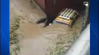 Emergencia en Cúcuta: taxi con conductor y niña a bordo fue arrastrado por corriente de un canal