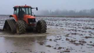 Tractor Kubota M128X + Poluzzi tracks (Farmer VS Bad Weather)