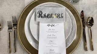 2 Paperless DIY Wedding Seating Chart Ideas: Escort Board + Marble Place Cards