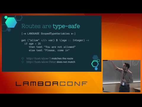 LambdaConf 2015 - Developing Web Applications with Haskell   Alejandro Serrano Mena