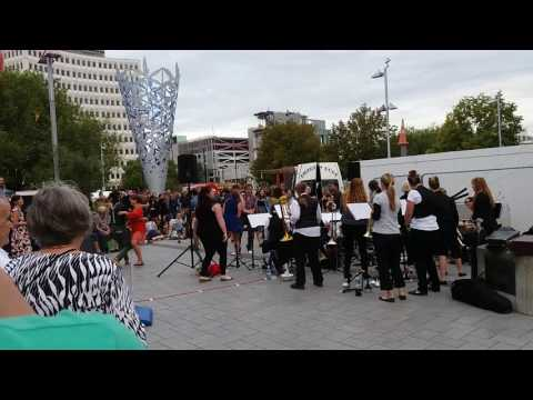 All Girls Big Band Feat Kate Taylor Live At Friday Food Trucks Chch NZ