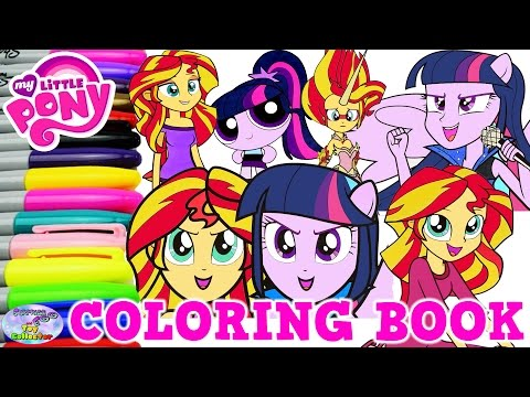 My Little Pony Coloring Book Sunset Shimmer Twilight Compilation Surprise Egg and Toy Collector SETC