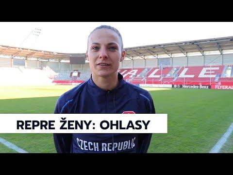 Rozhovory před utkáním ženské fotbalové reprezentace s Německem