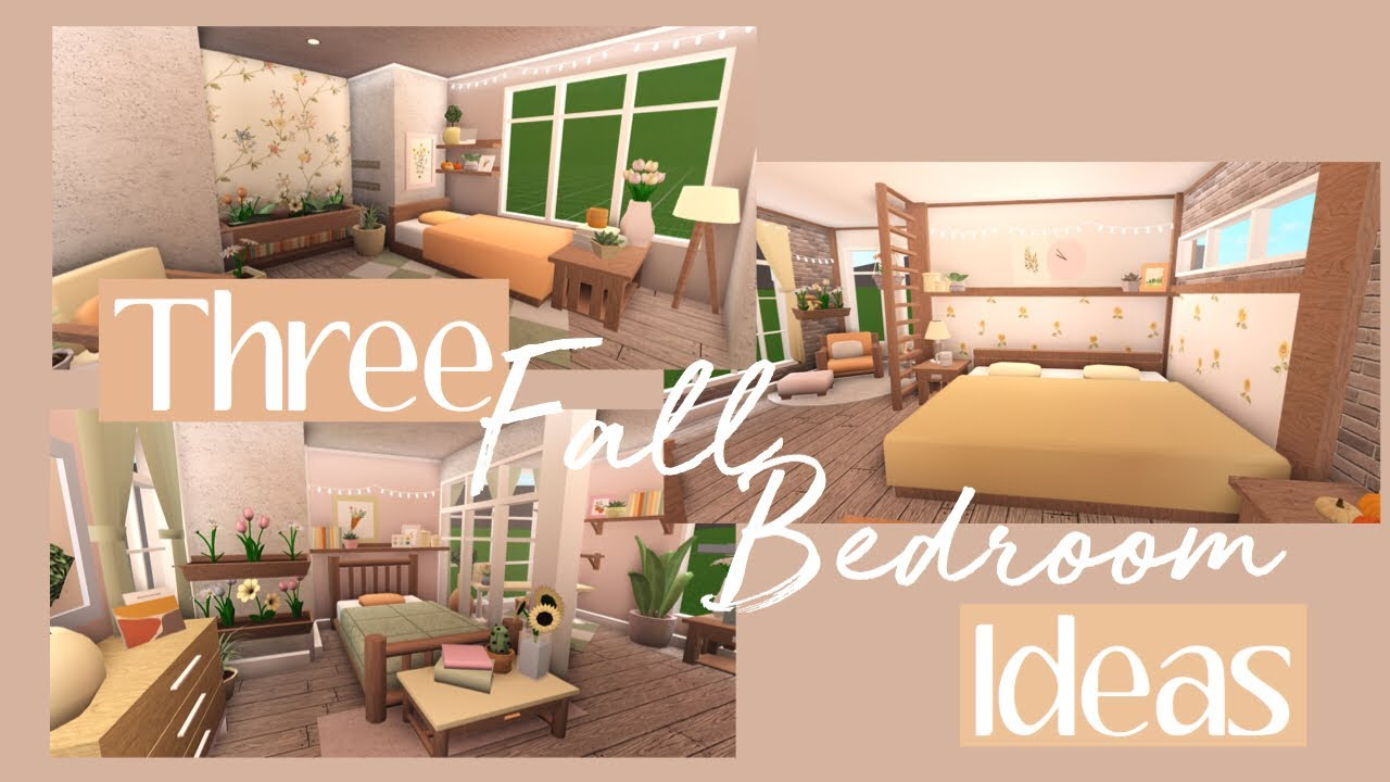 Bloxburg Three Fall Bedroom Ideas Youtube