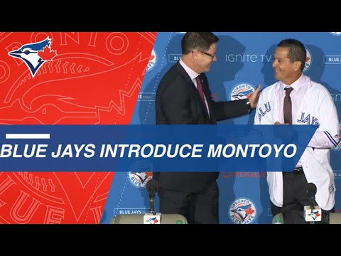 Blue Jays introduce Charlie Montoyo as new manager