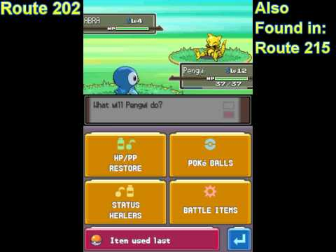 How to get Abra (Pokémon Platinum)
