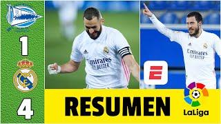 Alavés 1-4 Real Madrid. Casemiro anotó. Gol y asistencia de Hazard. Doblete de Benzema | LaLiga