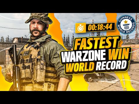 *NEW* WORLD RECORD FASTEST WARZONE WIN! ONLY 4 ZONES IN 1 GAME.. (WARZONE)