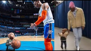 Russell Westbrook And His ADORABLE Son Do Pregame Workout & Show Off Matching Outfits!