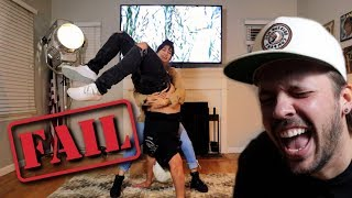 COUPLE TRIES IMPOSSIBLE ACROBATIC CHALLENGE!! (FUNNY)