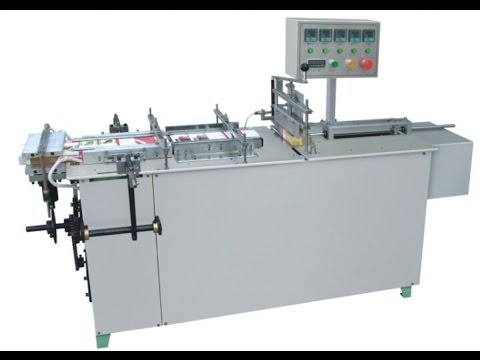 semi automatic cellophane packaging machine for soap boxes Cellophane 3D Packing Machinery