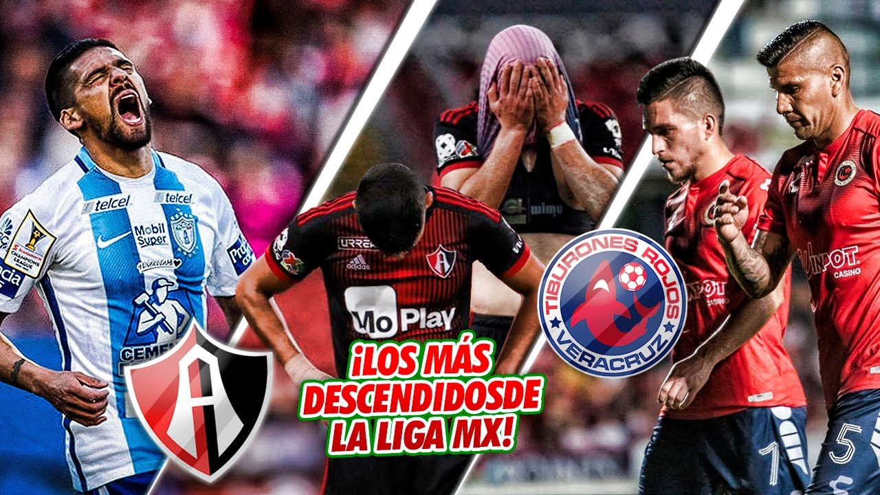 Los 5 EQUIPOS con MÁS DESCENSOS en la historia de la Liga MX ¡EL ATLAS NO ES EL #1!