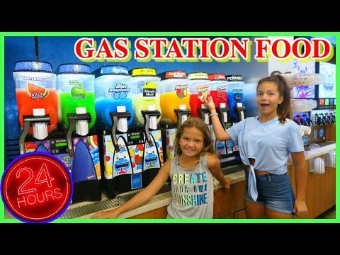 WE ONLY ATE GAS STATION FOOD FOR 24 HOURS | SISTER FOREVER