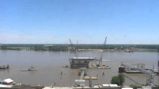 St Louis New Mississippi River Bridge Construction Time Lapse