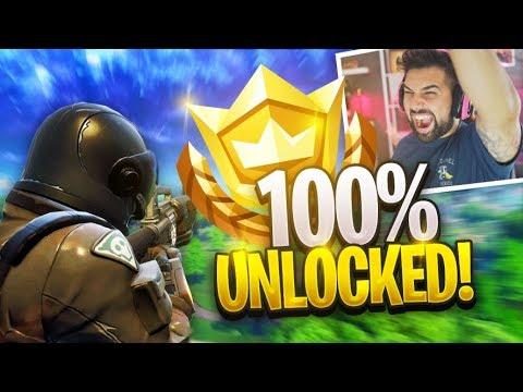 Unlocking All Rewards In Season 3 Level 100 Gameplay Fortnite