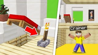 This TORCH LEVER Leads To A SECRET UNDERGROUND ROOM! (Minecraft Troll)