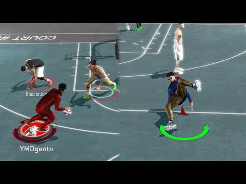 NBA 2k17 MyPARK - Back 2 Back Ankle Breaker + Game Winner?! Heat Check + Fans Freak Out on Mic!