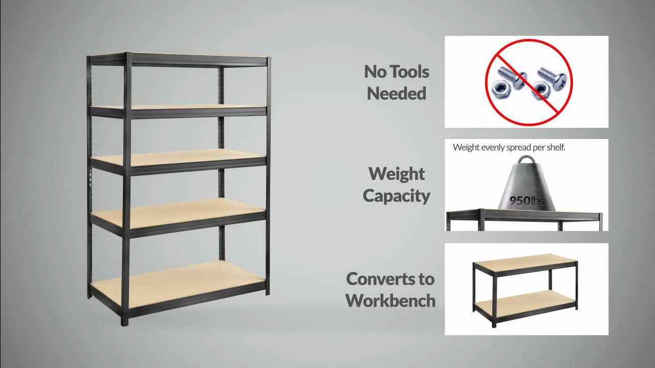 Boltless Steel And Particle Board Shelving Youtube