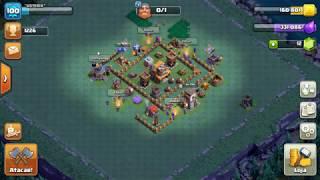 Três ataques no Clash of Clans Nova vila com arqueira sorrateira nível 8