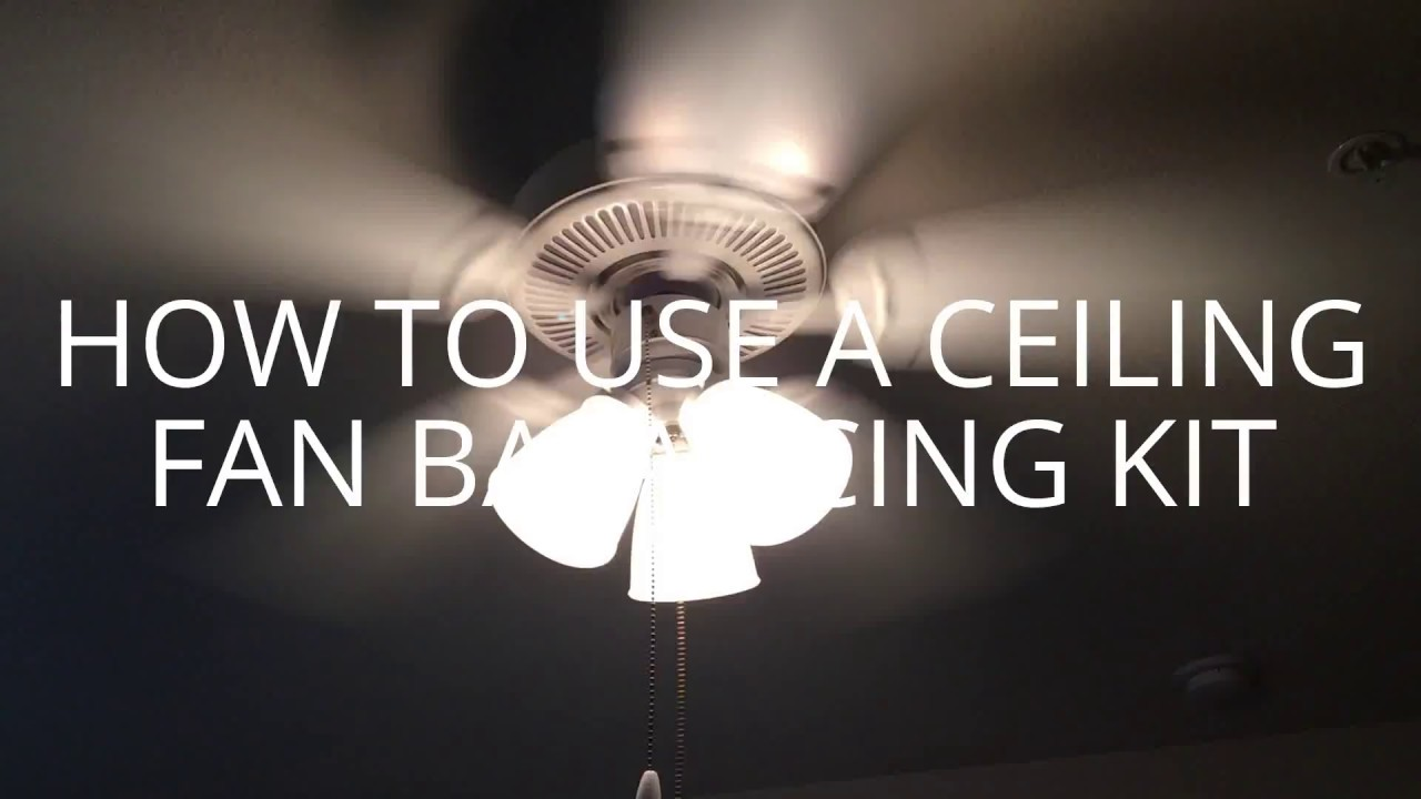 How to use a ceiling fan balancing kit youtube how to use a ceiling fan balancing kit aloadofball Choice Image