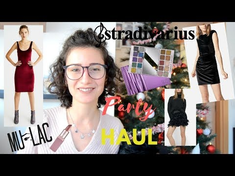 MEGA PARTY HAUL! MAKEUP,OUTFIT+ACCESSORI PER LE FESTE..STRADIVARIUS,PULL&BEAR,SEPHORA ETC..