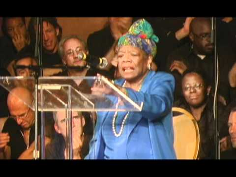 Dr. Maya Angelou visting Glide memorial Church in San Franci
