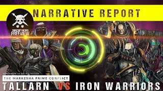 Warhammer 40,000 Narrative Report: Tallarn vs Iron Warriors 1750pts