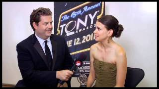 """Backstage at the 2011 Tonys: Winner Sutton Foster of """"Anything Goes"""""""