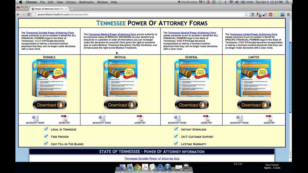 Power of attorney form tennessee youtube power of attorney form tennessee falaconquin