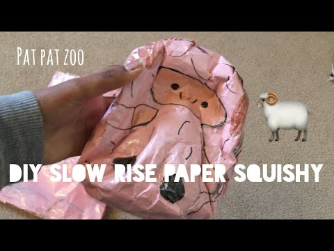 DIY Slow rise Paper Squishy| Ketchup DIY