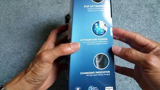 Unboxing PHILIPS NORELCO Closest Electric Shaver Lithium Portable Close Cut Shaver 2300 2017