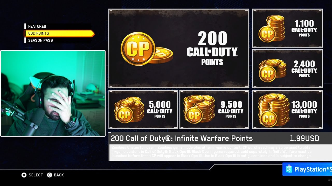 how to get cod points infinite warfare