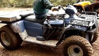 WICKED FAST!! POLARIS 454 V8 BIG BLOCK 4wheeler!