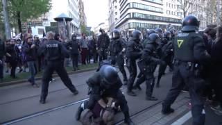 [LEGIDA 02.05.2016] Prügeleien zwischen Polizei und Gegendemonstranten