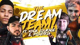 THE DREAM TEAM SQUAD! Ft. Ninja, CouRageJD & C9 Hysteria (Fortnite BR Full Match)