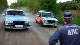 ДПС ПОГОНЯ ЗА ВОЛГОЙ ТАКСИ! - МУСОРОВОЗ #3
