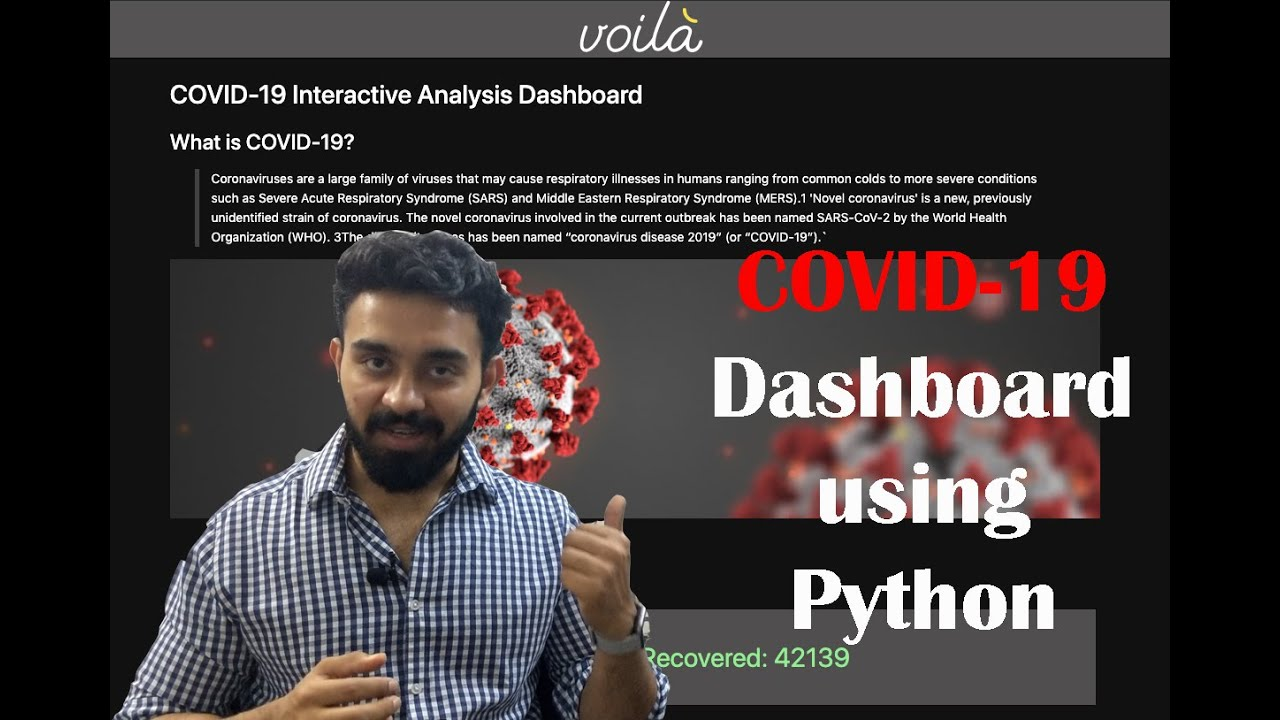 Building COVID-19 interactive dashboard from Jupyter Notebook