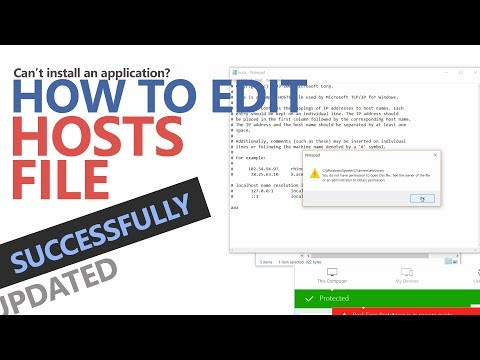 How To Edit Hosts File Successfully (100% Sure) Windows 10