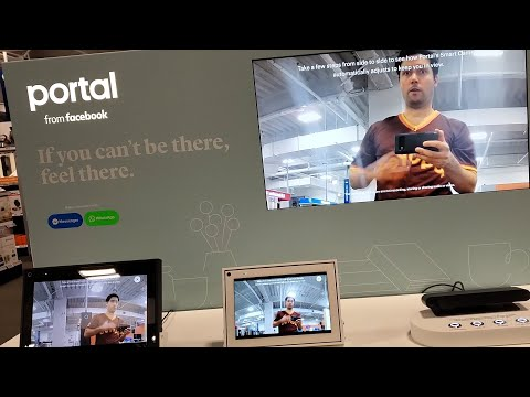 Facebook Portal TV Review Portal Mini WhatsApp Instagram Webcam Video Chat Camera Demo Best Buy