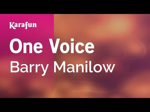 Karaoke One Voice - Barry Manilow *