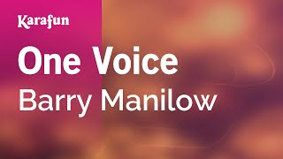 Karaoke One Voice - Barry Manilow *