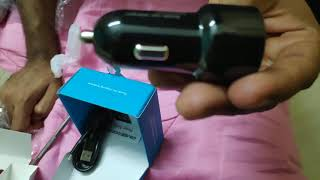 Ambrane 5.4amp Qualcomm Certified Turbo car charger unboxing