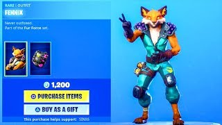 Fortnite *NEW* FOX SKIN + ROCK PAPER SCISSORS..! (ITEM SHOP Showcase) Fortnite Battle Royale
