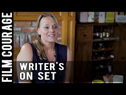 Screenwriter On A Movie Set by Christine Conradt