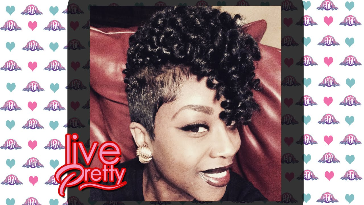 Curly Crochet Braids on Short Hair Pre-Curled - YouTube