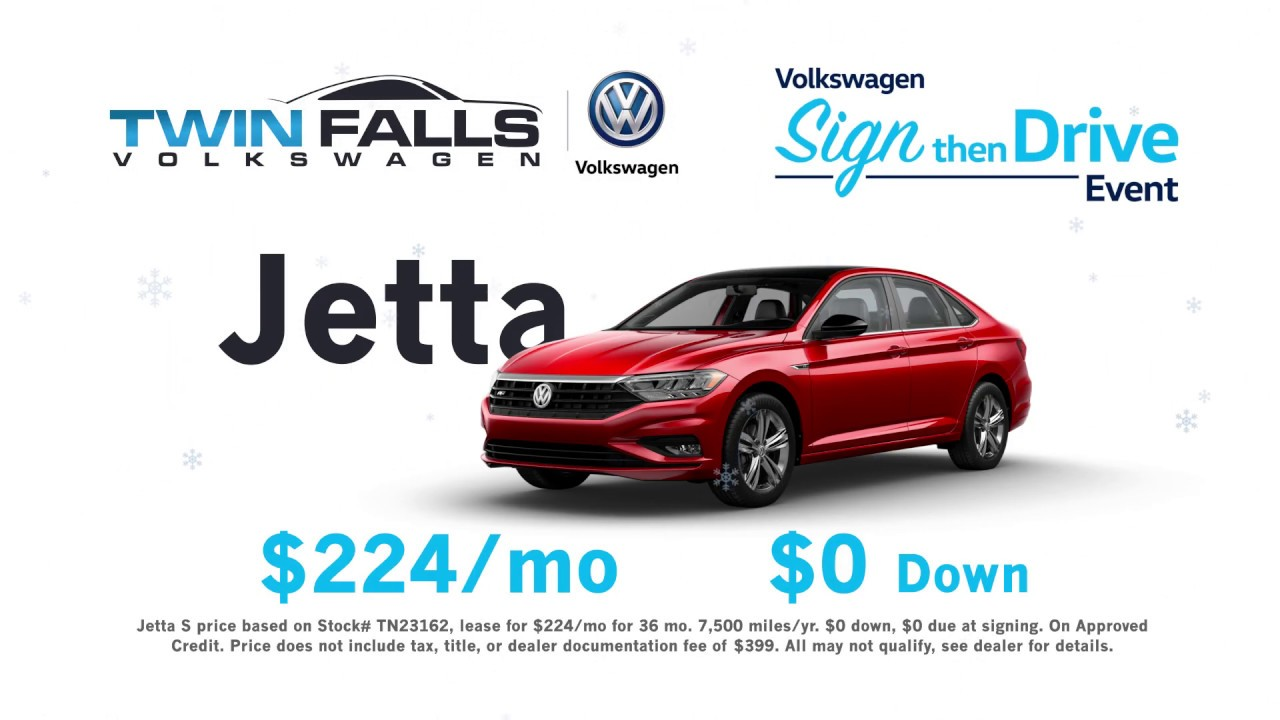 Twin Falls Car Dealerships >> 2019 Vw Jetta For 224 Mo With 0 Down Youtube