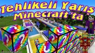 Tehlikeli Yarış Minecraft'ta Joker ve Demir Adam Şans Blokları Kapışması