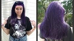How to Dye Your Hair Purple (NO BLEACH)!!!!
