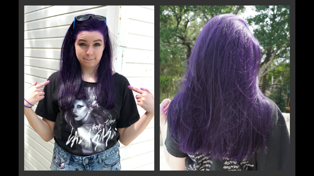 How to Dye Your Hair Purple (NO BLEACH)!!!! - YouTube
