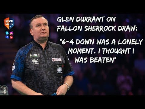"Glen Durrant on Fallon Sherrock draw: ""6-4 down was a lonely moment, I thought I was beaten"""